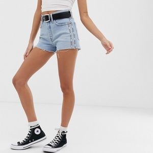 Levis | 501 High Rise Cut Off Shorts Dibs Tape